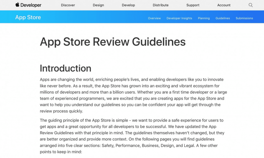 App Store Requirements Shot